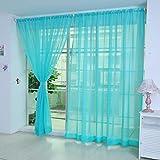 TAOtTAO 1 Stück Reine Farbe Tulle Tür Fenster Vorhang Drape Panel Sheer Schal Volants (H)