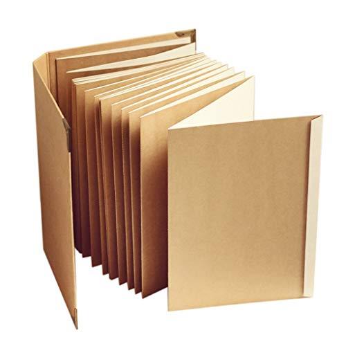 (ZfgG Sammelalbum Fotoalbum Kraftpapier Orgel Album Handarbeit DIY Album Familie einfügen Album)