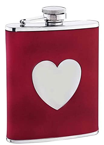 Visol True Love Red Leather Liquor Flask, 6-Ounce by Visol Products