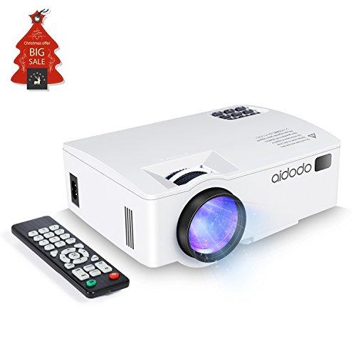 TOQIBO Beamer Video Projektor Verbinden Sie sich mit Ihrem Smartphone per USB-Kabel LED 1800 Lumen Lichtausbeute LCD Mini beamer Heimprojektor Für Outdoor Indoor Filmerlebnis (weiß)