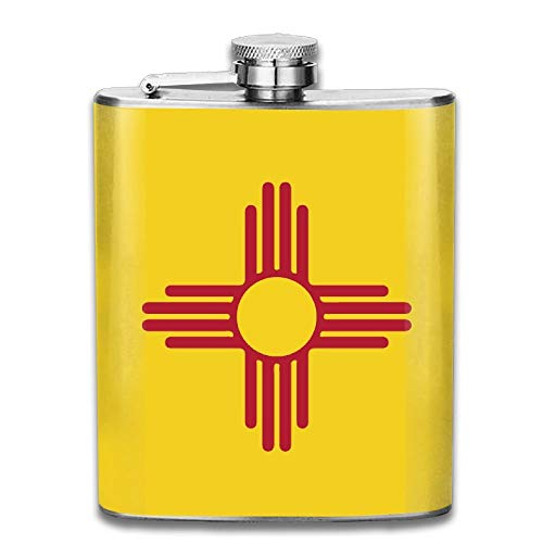 Flag Of New Mexico Stainless Steel Liquor Flagon Retro Pocket Flask\Stainless Steel Travel Flask Great Little Gift,Safe And Nontoxic
