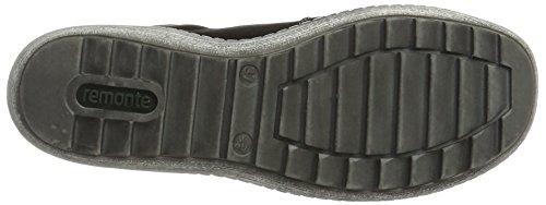 Pantofola Remonte Ladies R1403 Nera (nero / Nero / Argento Antico)