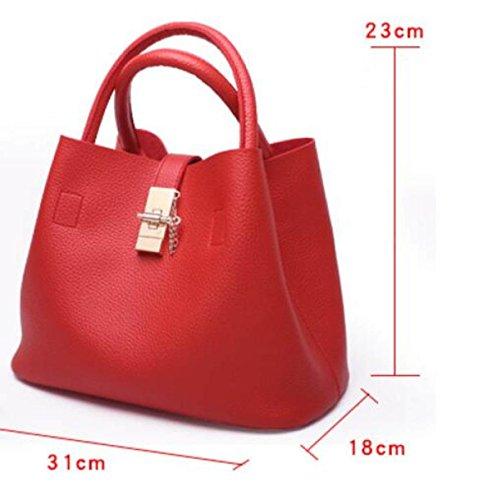 Frauen Schulter-Beutel Frauen Normallack Handtaschen-Schulter-Tote Mädchenart Und Weise Kurierbeutel Pink