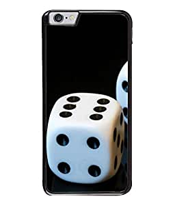 FUSON Designer Back Case Cover for Apple iPhone 6S (Puzzles dice Moulds Black white Arts)
