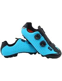 LUCK Zapatilla de Ciclismo MTB Eros con Doble Cierre rotativo de Alta precisión. (43 EU, Azul)