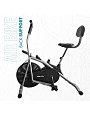 reach ab-100 air bike exercise fitness cycle with back supp