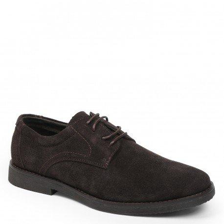 Ideal Shoes - Chaussures de ville homme en cuir effet daim Dael Marron