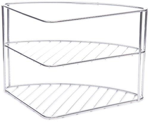 wenko-2341100-angoliera-per-stoviglie-2-ripiani-metallo-cromato-35-x-25-x-21-cm-argento-lucido