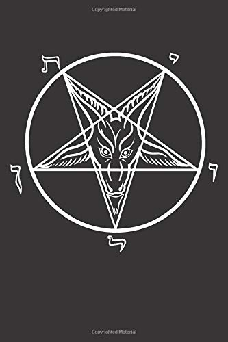 Sigil of Baphomet: Blank Lined Notebook, Journal or Diary (Of Church Halloween Satan)