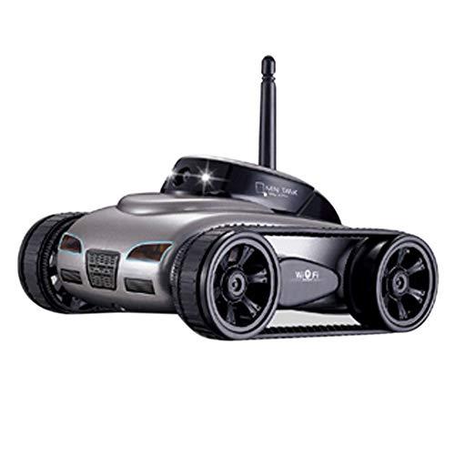 Coches Mini RC WiFi Tank Robot 777-270 con el Control Remoto de la cámara de 0.3MP de iPhone Android Phone RC Tank Juguetes para niños,Silver