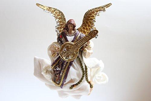 Christmas @ thumpers flying music resina e tessuto faries & angeli con strumento decorazione