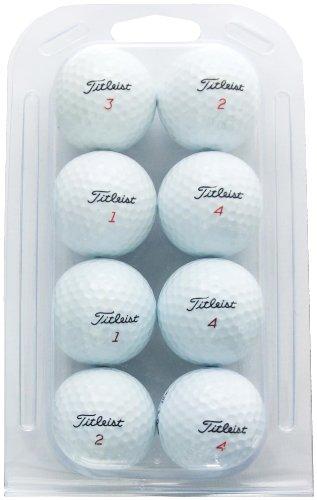 Second Chance - Set 8 palline da golf Titleist riciclate, categoria A