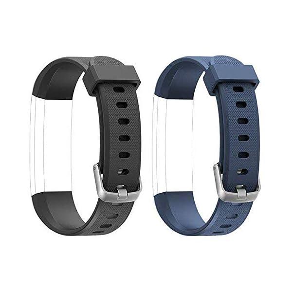 Rayfit Pulseras de Repuesto para Fitness Tracker Correa ID115U / Correa 115U / 115UU Smart Band Correa Repuesto de Reloj… 8