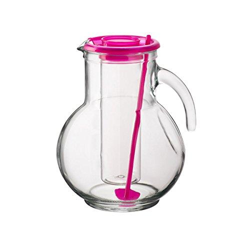 2Liter Glas Krug mit Eiseinsatz, Deckel