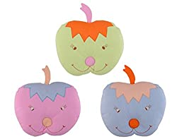 Aarushi Baby Pillows Apple Shape for Infant Soft Sleep Pillows Pack of 3