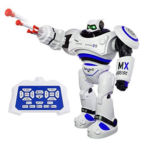 SGILE Robot Juguete Gigante, Programación Inteligente Sensación Robots para Niños, Control Remoto con la Tecnología de Sensores de Movimiento y Equilibrio, Blanco
