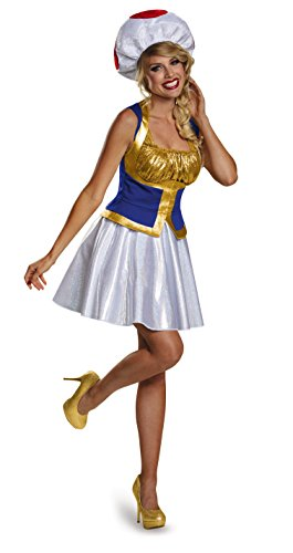 Super Mario Bros Toad Women's Toad Costume Dress X-Large 18-20