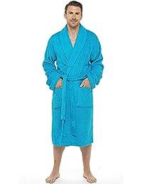 Bata de baño para Hombres Bata de algodón 100% Terry Albornoz Albornoz Baño Ideal para Gimnasio Ducha SPA Hotel Bata Tamaño de Vacaciones M/L, L/XL, 2XL, 3XL y 4XL