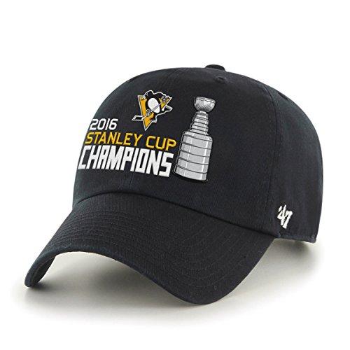 NHL Pittsburgh Penguins 2016Stanley Cup Champions '47reinigen bis Verstellbarer Hat, One Size, Schwarz