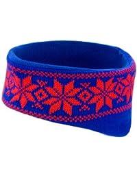 Stirnband mit modischem Wintermuster, Farbe:Royal/Red