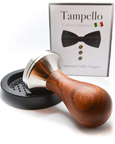 TAMPELLO Espresso Tamper Set 51mm - inkl. Silikonmatte   Gleichmäßiger Durchlauf & Perfekter Druck   Espressostampfer für Siebträgermaschinen  Kaffeestampfer für Delonghi Dedica, Lelit und viele mehr