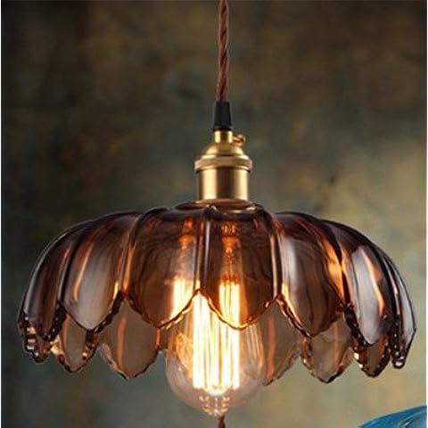 Conveniente e bella illuminazione lampadari lampade lampadario lampada da esterni floorlamp lampada da soffitto-958 arte unica testa lampadari , lampadina giglio marrone con fuochi d'artificio - Fuoco Arte
