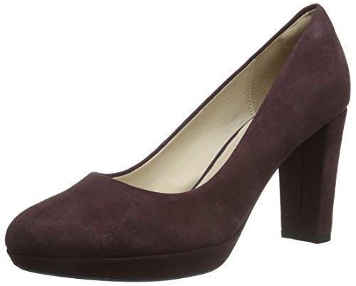 Clarks Damen Kendra Sienna Pumps Violett (Aubergine Suede)