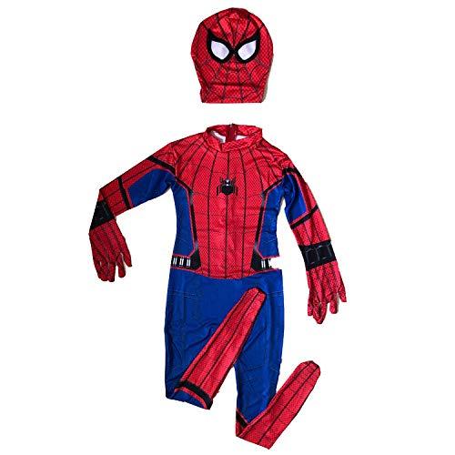 Spiderman Cosplay Superman Mantel Halloween Kreative Leistung Kostüm Rollenspiel,Split-100-110cm