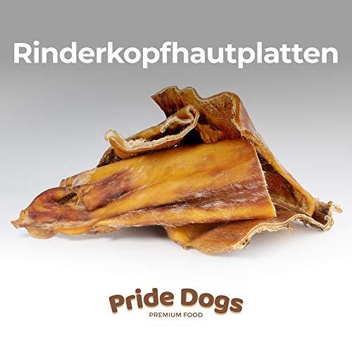PrideDogs Rinderkopfhautplatten 1000g der Premium Kausnack für Ihren Hund | 100{c0a76d83c9cf825f5c2c478e4cc827d522765f26dab173071d3aaf69d0fd6ba4} Rind aus Deutscher Herstellung | im geruchsneutralen Beutel | Kauartikel.