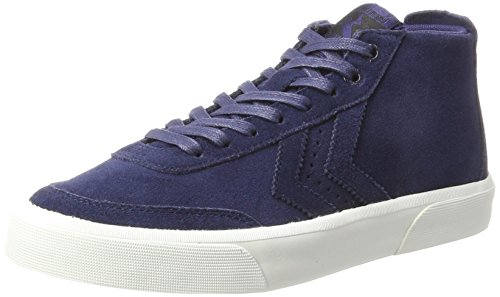Hummel stockholm suede mid, scarpe da ginnastica alte unisex-adulto, blu (peacoat), 44 eu