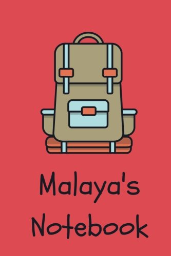 Malaya's Notebook: backpack Cover 6x9