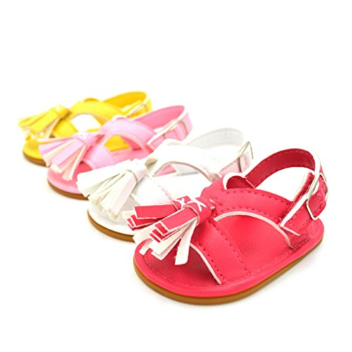 BZLine® Baby Neugeborenen Quaste Walking Schuhe Sandalen Soft Shoes Non-Slip shoes Gelb
