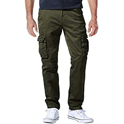 Match Pantalons Cargo pour Hommes #6531(6531 Armée Vert(Army Green),32(FR 42))