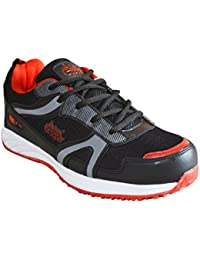 Allen Cooper ACSS-34 Black Red Sports Running Shoes For Men