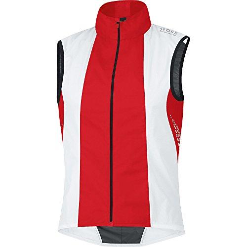 GORE BIKE WEAR, Smanicato Uomo Xenon 2.0 Active Shell, Bianco (white/red), S Bianco/Rosso