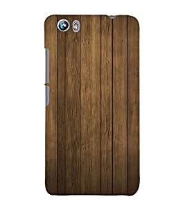 Wooden Pattern Hard Polycarbonate Designer Back Case Cover for Micromax Canvas Fire 4 A107