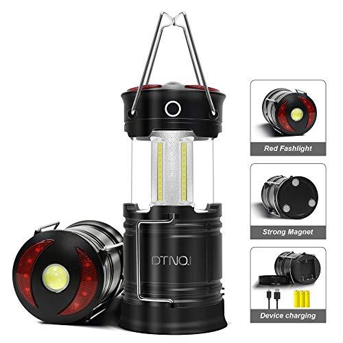 Wiederaufladbare LED Campinglaterne, Magnetische Laterne mit USB Kabel, 4-in-1 Camping Laterne, Tragbare Wasserdichte Campinglampe COB-Zeltlampe, besten für Notfälle, Hurrikan, Stromausfall-2er-Pack