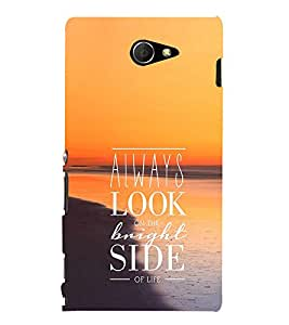 EPICCASE Bright side Mobile Back Case Cover For Sony Xperia M2 (Designer Case)