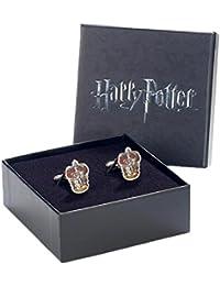 Offizielle Warner Bros Harry Potter Gryffindor Wappen Silber vergoldete Manschettenknöpfe