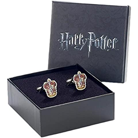 Ufficiale Warner Bros Harry Potter Gryffindor Crest argento placcato gemelli