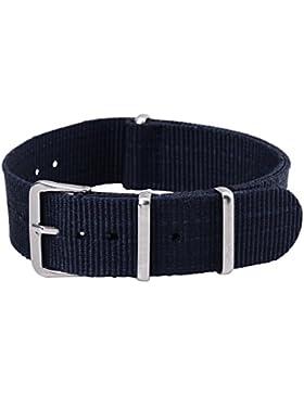 18mm Herren Damen Nylon Nato Uhren-Armband Uhrenarmbänder Uhrband Watch Band Watch Strap Uhr Unisex