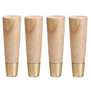 ZHOUMEI Einfach 4pcs Massivholz-Möbelfüße Sofa Schrank aus Holz Stützbein Couchtisch Sessel Bett Möbel Riser…