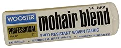 Wooster Brush R207-7 Mohair Blend Roller Cover 1/4-Inch Nap, 7-Inch