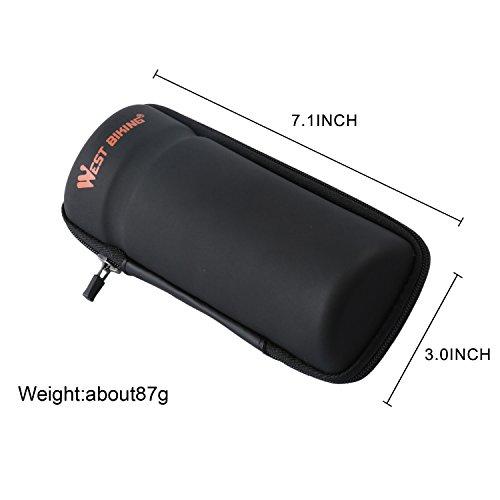 West Biking Zip Case Werkzeugtasche für Wasser Flasche Käfig Schwarz Black StyleB