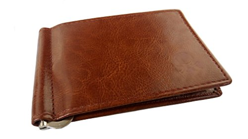 Just Click Fashion Brown Leather Money Clip Holder Wallet For Men's  available at amazon for Rs.399