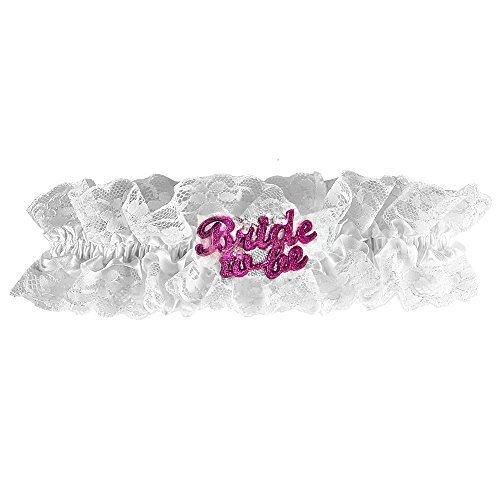 Preisvergleich Produktbild Strumpfband JGA Bride to be blinkend