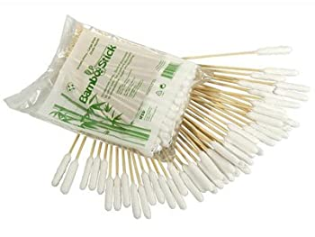 BambooStick  Nettoyant à oreilles pour animaux, paquet de 50