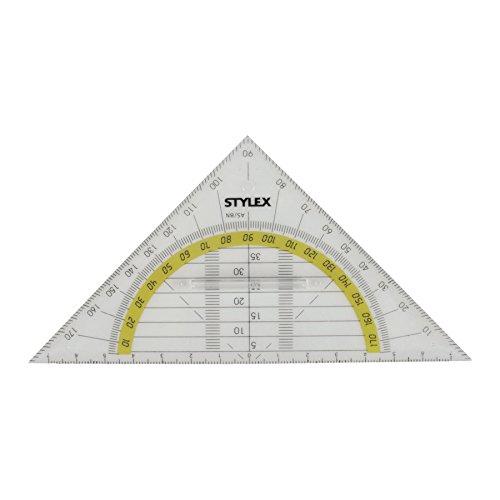 Stylex 37025 Geometriedreieck mit Griff, 16 cm