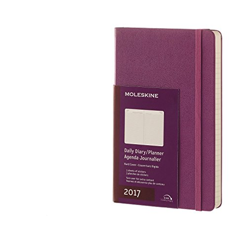 Moleskine DHH1012DC3Y17 - Agenta diaria 12 meses, L 13 x 21, color morado