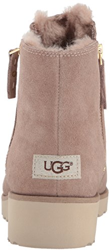 Ugg Women's Shala Women's Leather Ankle Boot In Black Suede Fawn